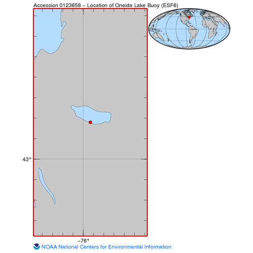 Oceanographic and surface meteorological data collected from Oneida