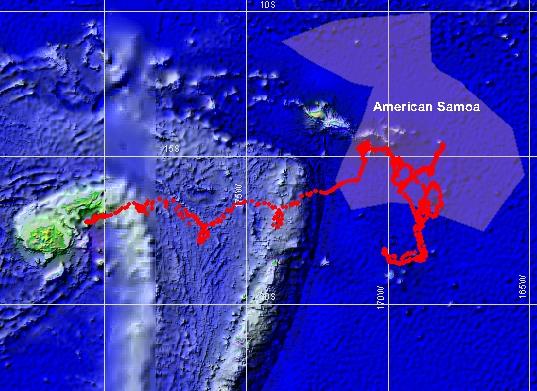 CRED_SVP35651.jpg, CRED SVP drifting buoy Argos_ID 35651 track