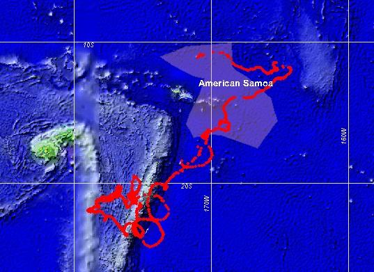 CRED_SVP29109.jpg, CRED SVP drifting buoy Argos_ID 29109 track