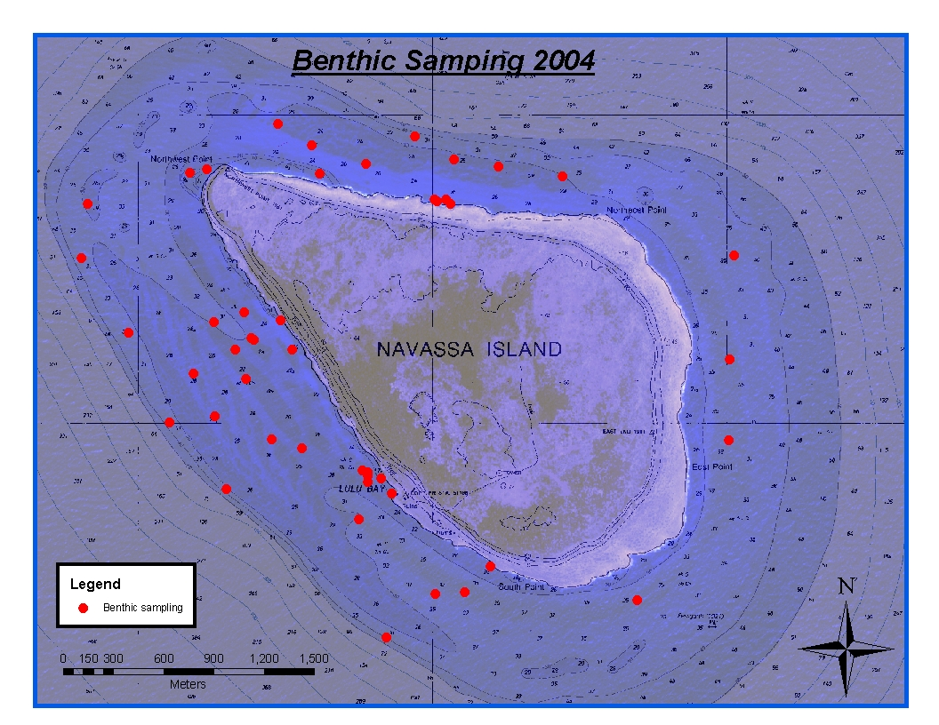 Benthic Sampling Navassa Island 2004