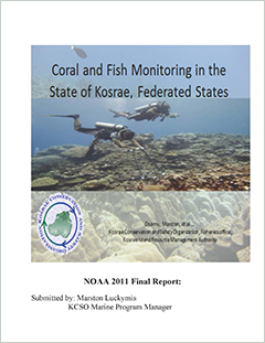 Coral and fish monitoring in the State of Kosrae, Federated States of Micronesia