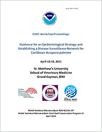 Cover - CDHC Workshop Proceedings: Guidance for an Epidemiological Strategy and Establishing a Disease Surveillance Network for Caribbean Acropora palmata