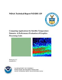 Computing Applications  for Satellite Temperature Datasets: A Performance Evaluation of Graphics Processing Units