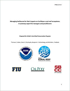 Cover - Managing Herbivores for their Impacts on Caribbean Coral Reef Ecosystems