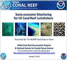 Socio-economic monitoring for US Coral Reef Jurisdictions
