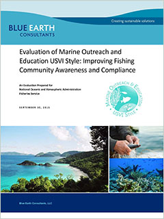 cover - Evaluation of Marine Outreach and Education USVI Style Initiative: Improving Fishing Community Awareness and Compliance