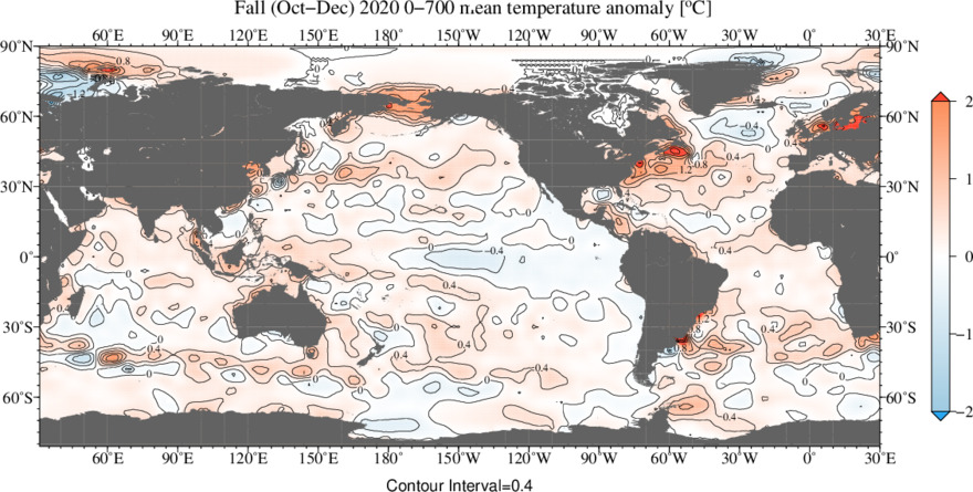 3-month vertically averaged temperature anomaly figures