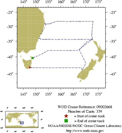 NODC Cruise 09-2668 Information