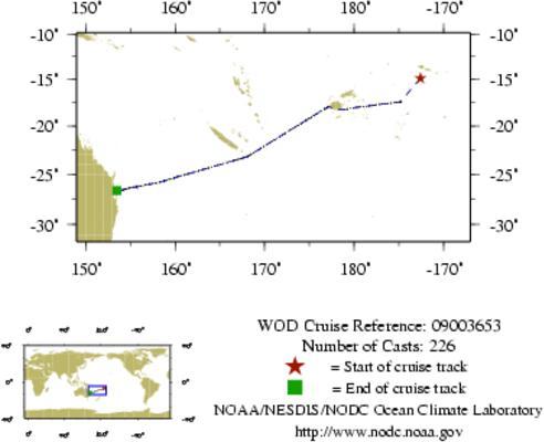 NODC Cruise 09-3653 Information