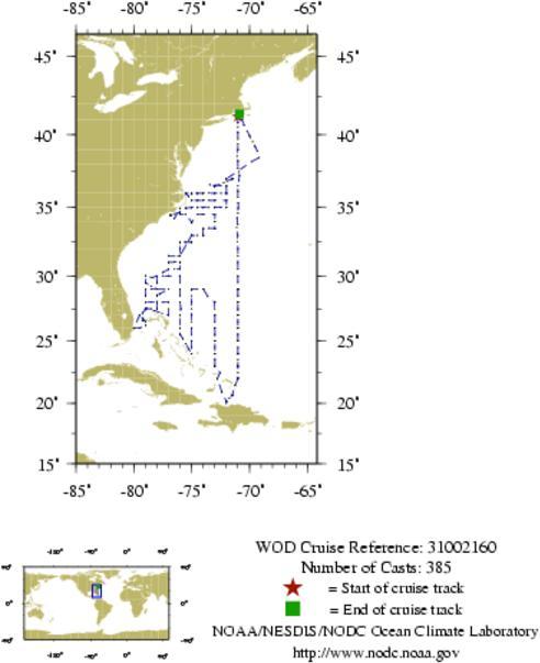 NODC Cruise 31-2160 Information