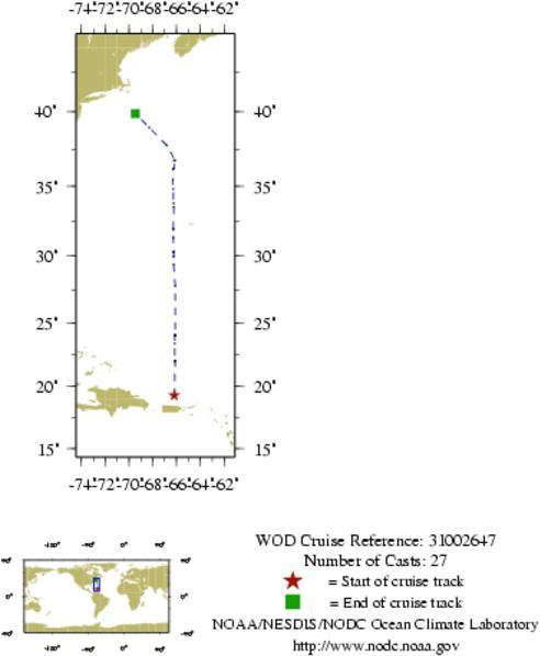 NODC Cruise 31-2647 Information