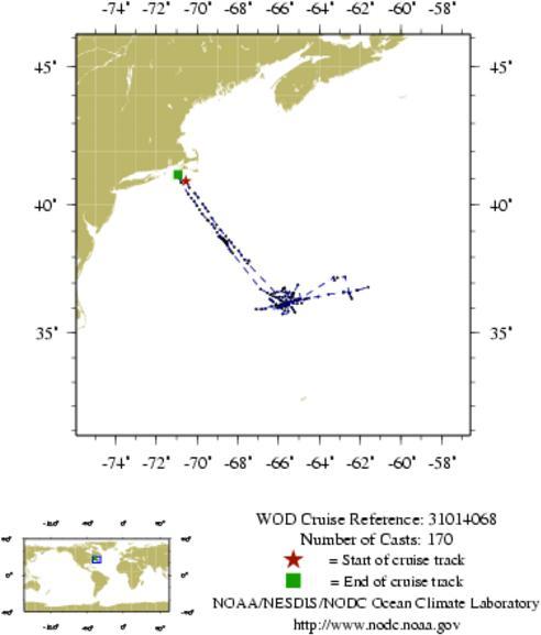 NODC Cruise 31-14068 Information