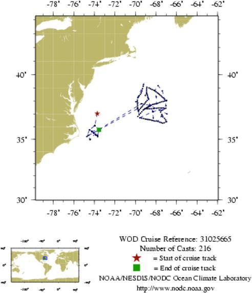 NODC Cruise 31-25665 Information