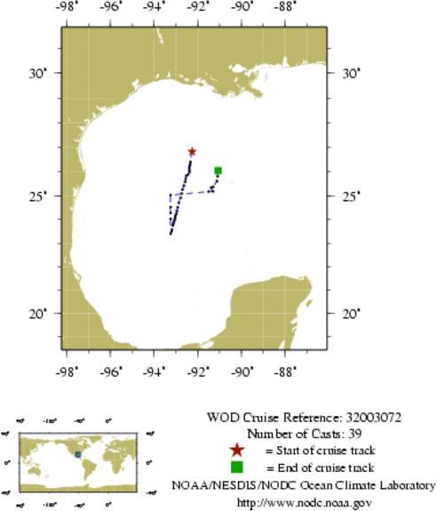 NODC Cruise 32-3072 Information