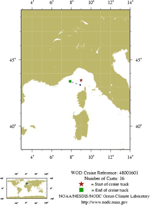 NODC Cruise 48-1601 Information