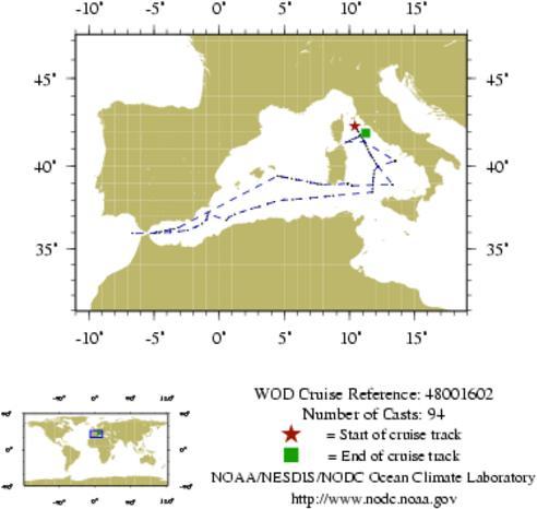 NODC Cruise 48-1602 Information