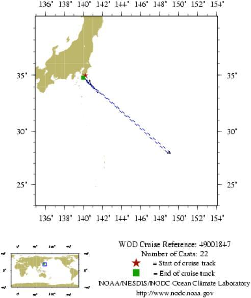 NODC Cruise 49-1847 Information
