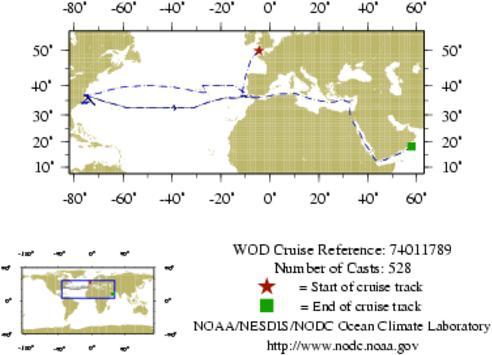 NODC Cruise 74-11789 Information