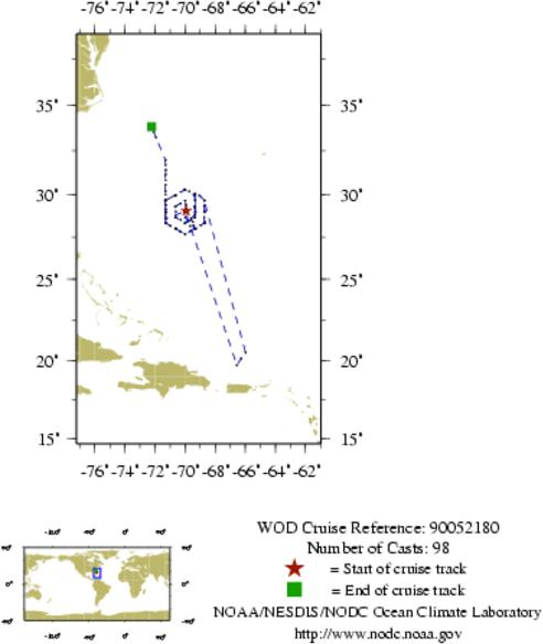 NODC Cruise 90-52180 Information