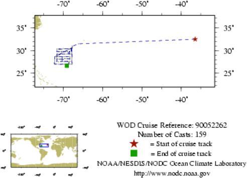 NODC Cruise 90-52262 Information