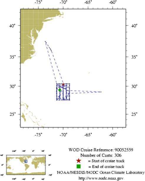 NODC Cruise 90-52559 Information