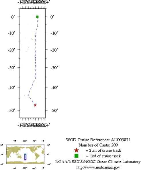 NODC Cruise AU-3871 Information