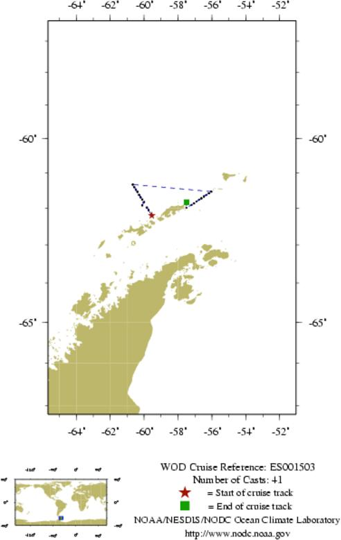 NODC Cruise ES-1503 Information