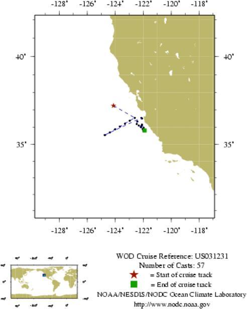 NODC Cruise US-31231 Information