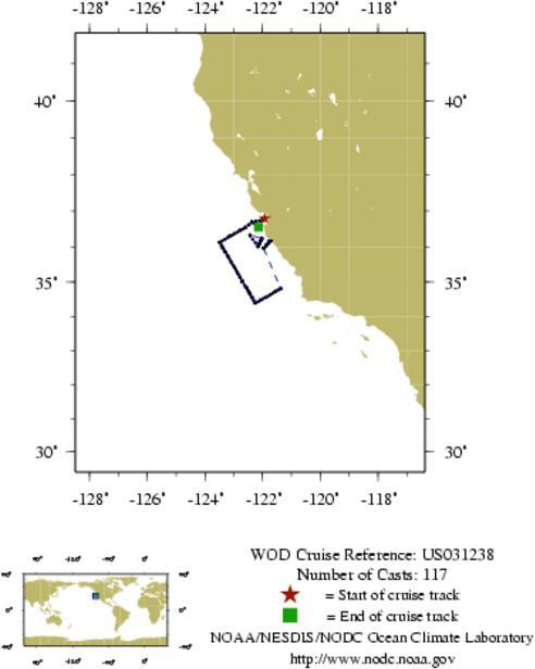 NODC Cruise US-31238 Information