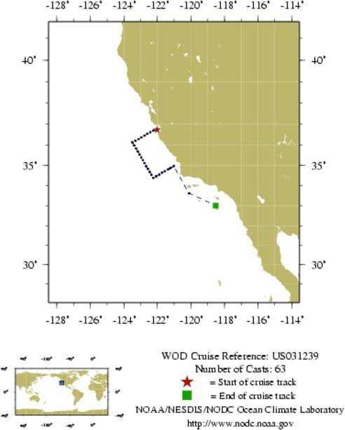 NODC Cruise US-31239 Information