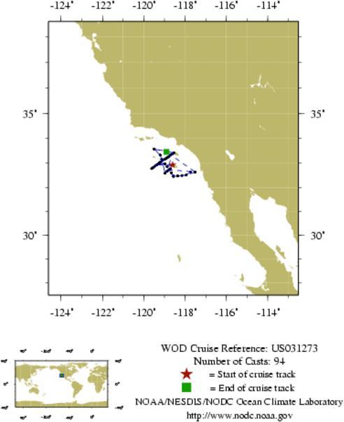 NODC Cruise US-31273 Information
