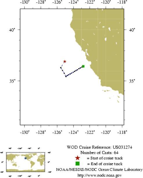 NODC Cruise US-31274 Information