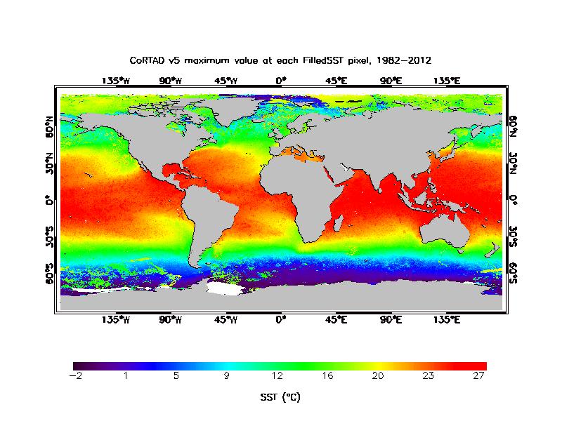SST Maximum Climatology