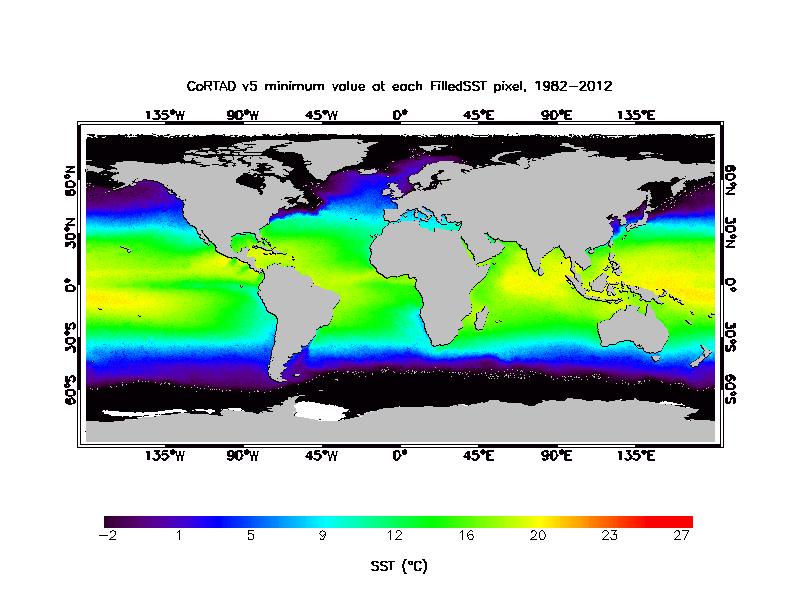 SST Minimum Climatology