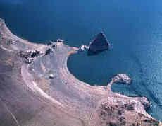 Pyramid island in Pyramid Lake, Nevada