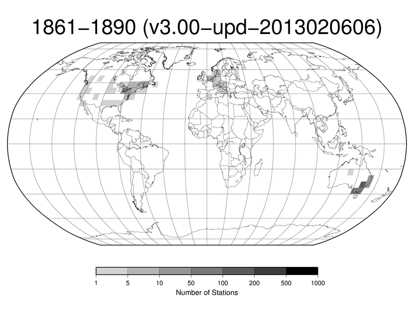 Station Counts 1861-1890: Precipitation