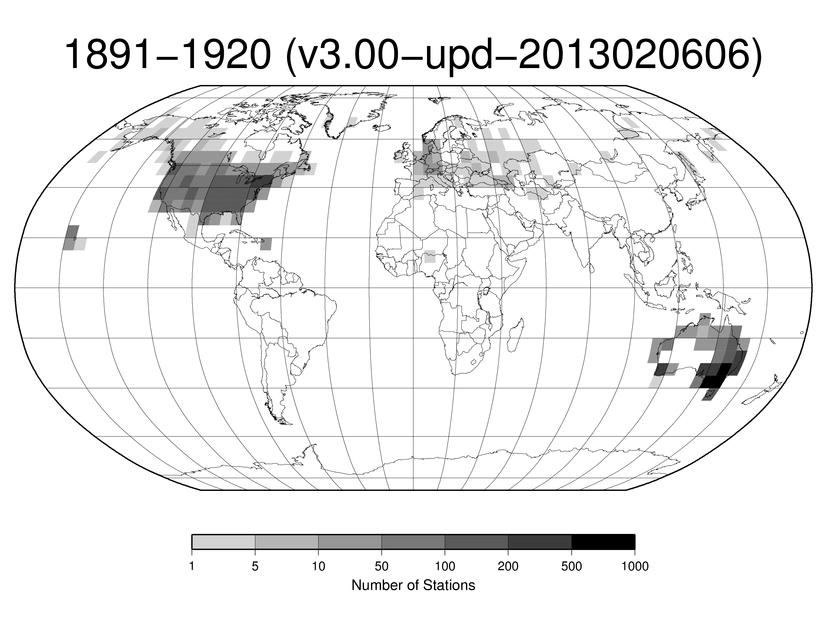 Station Counts 1891-1920: Precipitation
