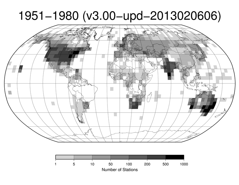 Station Counts 1951-1980: Precipitation