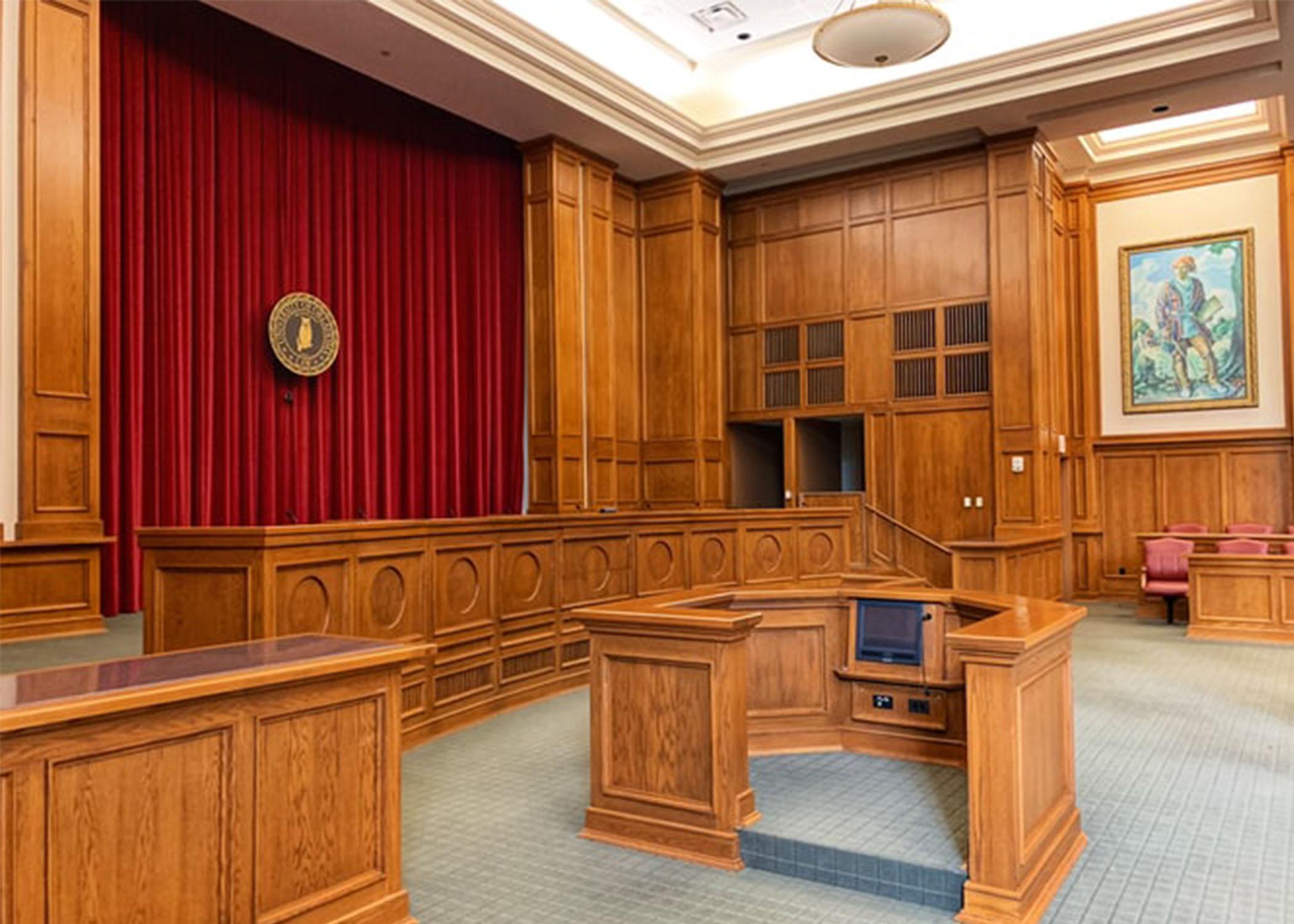 Courtroom interior, OCK law school.