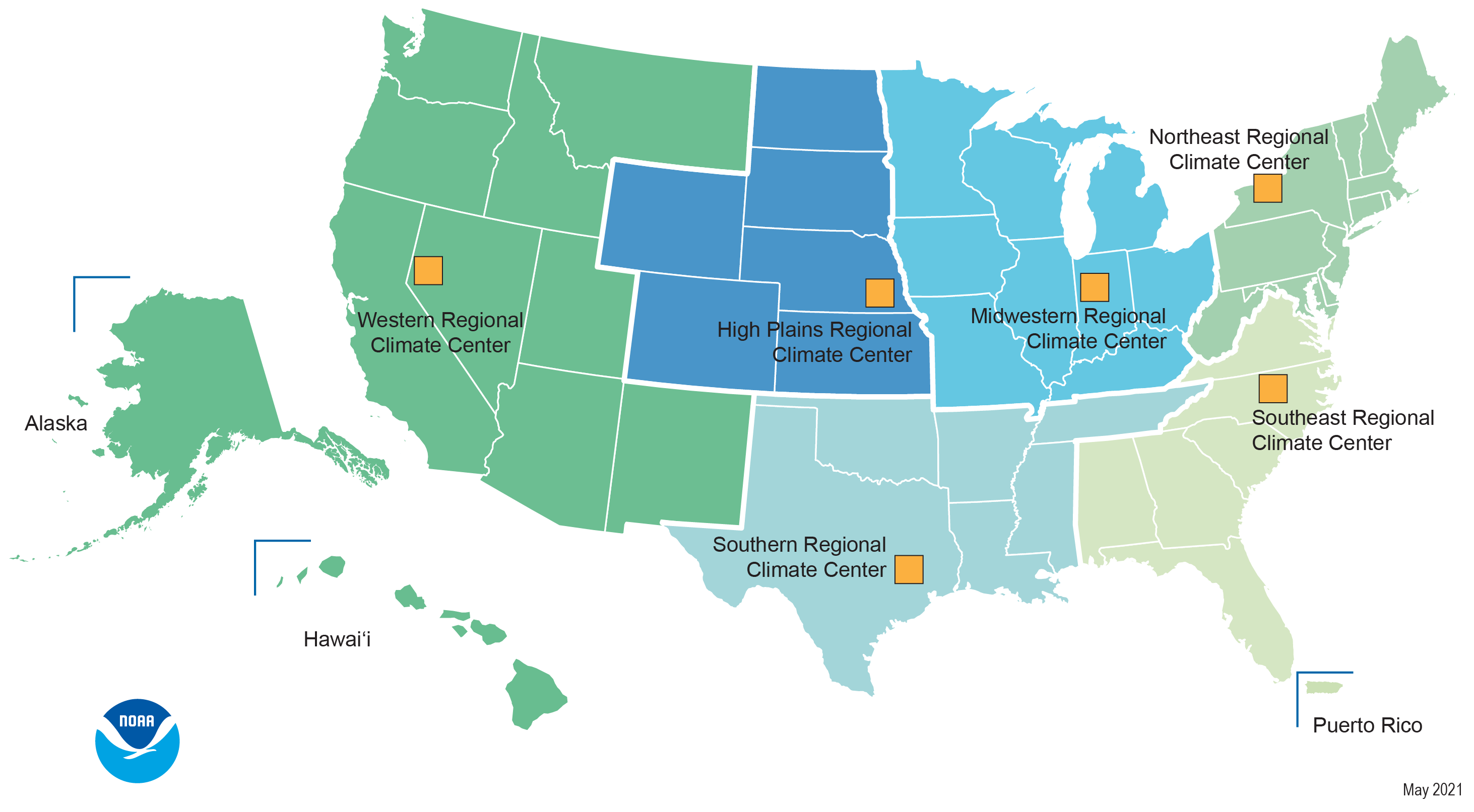 Map of Regional Climate Centers
