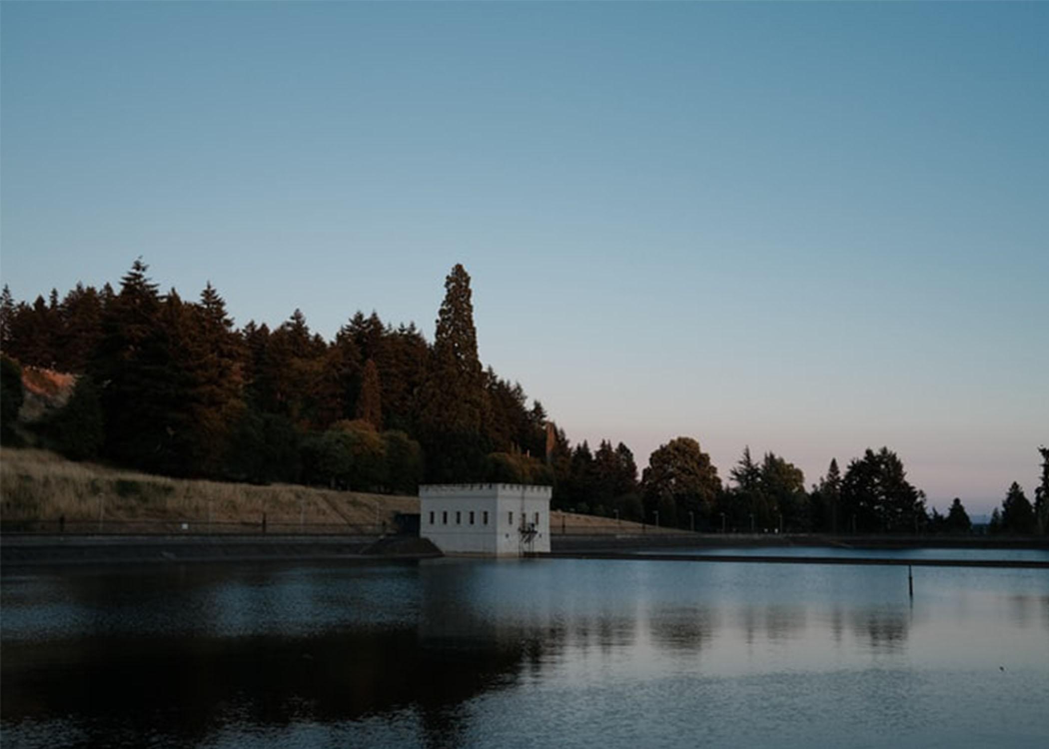 Reservoir at Mt. Tabor Park in Portland, Oregon.