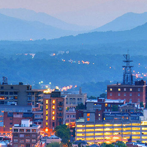 Photo of downtown Asheville ©iStock.com