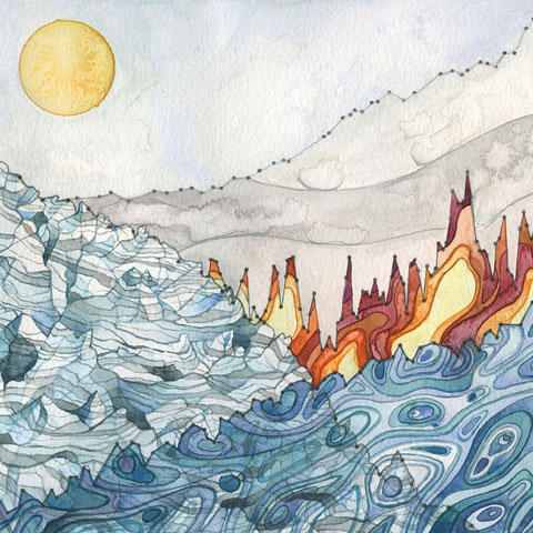 Illustration from the Cover of the Bulletin of the American Meteorological Society State of the Climate in 2015 Report