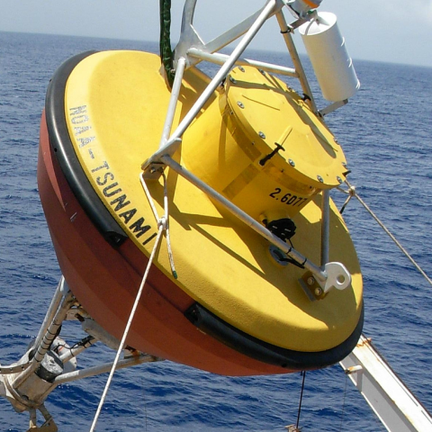 Image of NOAA tsunami detection DART buoy