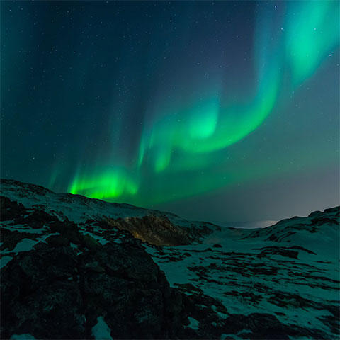Image of green Northern Lights