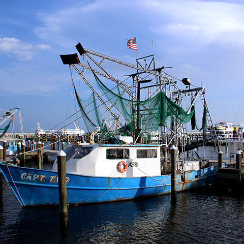 Picture of Fishing Boat in Pass Christian, MS, by Barbara Ambrose, NOAA/NCEI