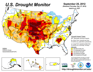 Map of U.S. Drought Conditions for September 25, 2012