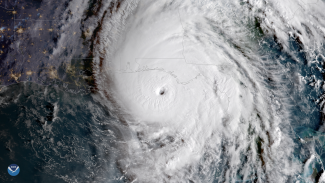 Satellite image of Hurricane Michael