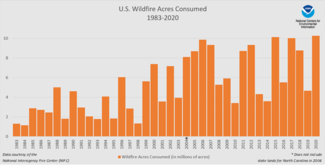 2020 Annual Wildfires Time Series