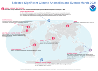 March 2021 Global Significant Events Map